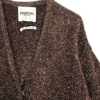 glitter cardigan jacket brown